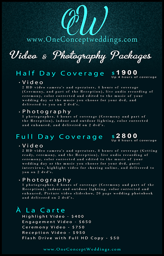 Wedding Price Guide video photo NEWest Blog